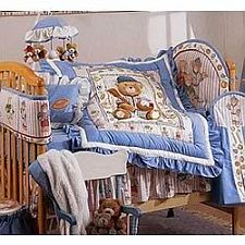 Kidsline Club USA 6 Piece Crib Bedding Set